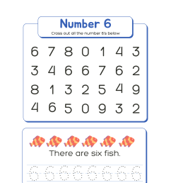 Learning The Number 6 - Tracing - Academy Worksheets [ 2000 x 1545 Pixel ]