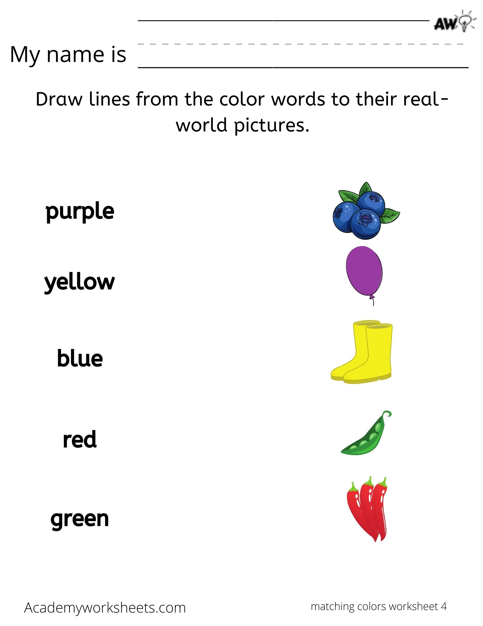 Learning Color Words And Colors