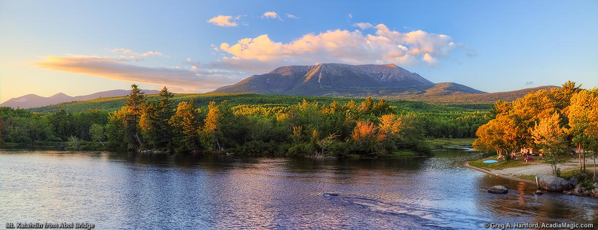 Fall In Maine Wallpaper Mount Katahdin Panoramic Photos