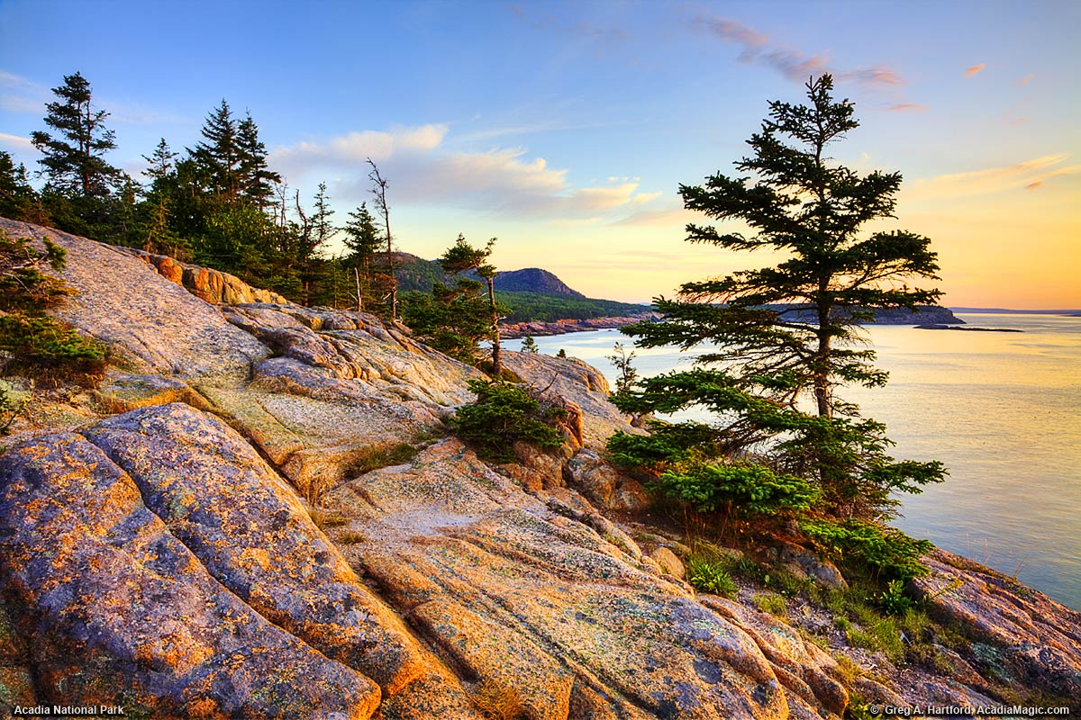 Otter Cliff Close Up View in Acadia Maine