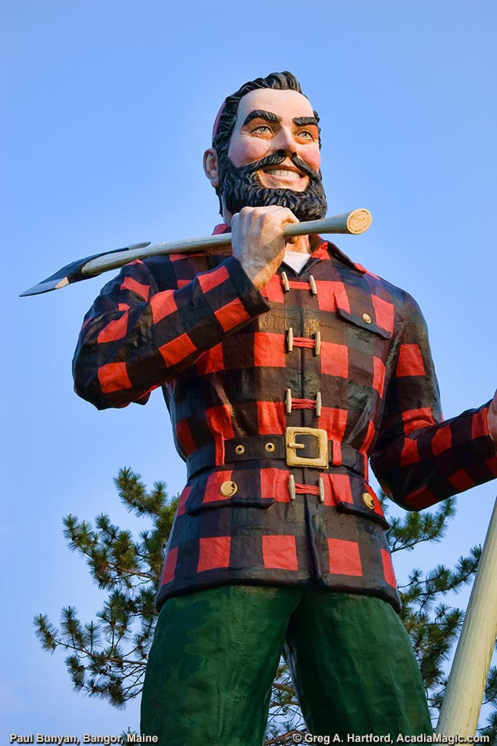 Paul Bunyan in Fashionable Red  Black Shirt Page 4