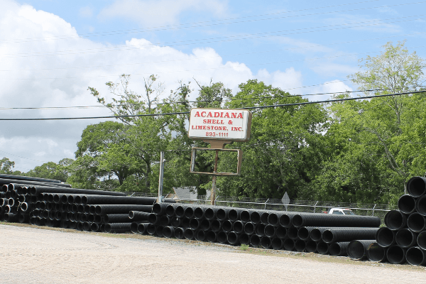 HDPE Corrugated Pipe | Culverts | Acadiana Shell & Limestone