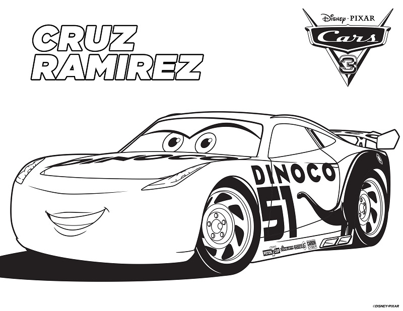 New Free Printable Cars 3 Coloring And Activity Sheets