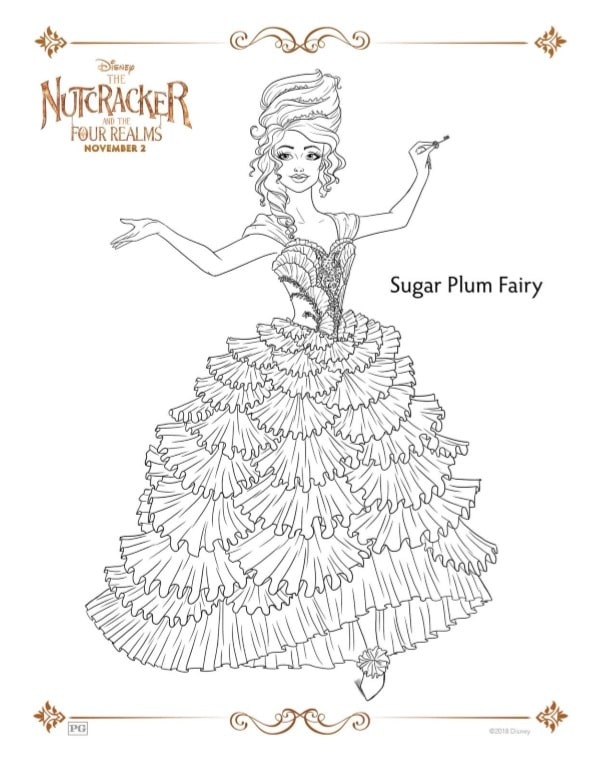 Free Printable Coloring Pages For The Nutcracker And The Four Realms Acadiana S Thrifty Mom