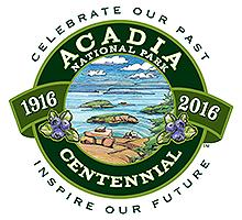 Centennial logo for Acadia National Park