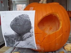 Bubble Rock jack-o-lantern