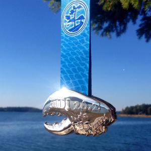 MDI Marathon lobster claw finisher's medal