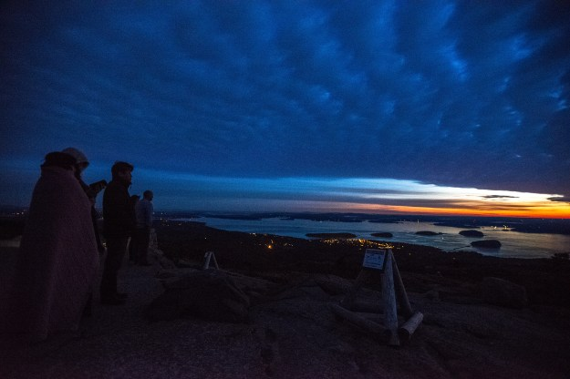 Dawn on Cadillac Mountain in Acadia National Park