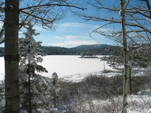 Acadia National Park in winter