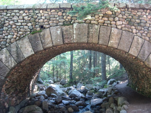 Cobblestone Bridge in Acadia National Park