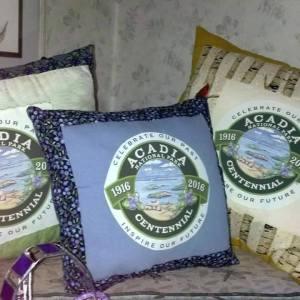 acadia Centennial pillow