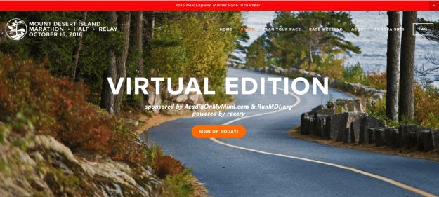 acadia virtual runs