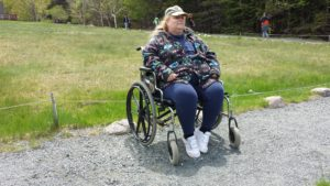 Pam Butler of Rochester, N.Y. in Acadia National Park