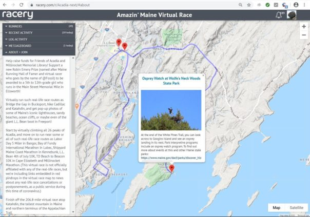 acadia virtual races with medals