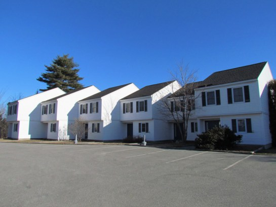 An outside view of the Townhouses.