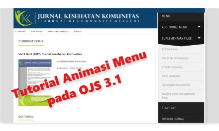 Tutorial Animasi Menu OJS 3.1