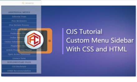 Tutorial Custom CSS for Menu Sidebar OJS