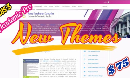 New OJS Theme Academic Pro Premium Journal Themes