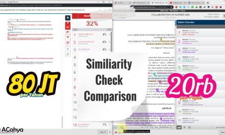 Komparasi Similarity Check Turnitin VS Ithenticate