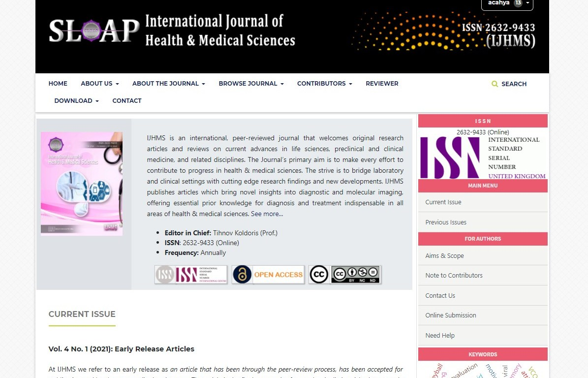 International Journal of Health & Medical Sciences (IJHMS)