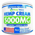 Organic Hemp Cream for Pain Relief – 5000 mg/ 4oz / 100% Natural Hemp Extract US