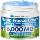 Organic Hemp Cream for Pain Relief – 6000 mg/ 4oz / 100% Natural Hemp Extract US