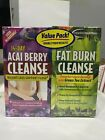 Acai Berry + Fat Burn Cleanse Supplement, Weight Loss Support Flush 112 Tablets