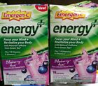 TWO BOXES Emergen-C Energy + Blueberry Acai Supplement Drink 18 packets 12/2020+