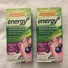 Emergen-C Energy Plus Fizzy Drink Mix Blueberry Acai 8 packets Lot of 2