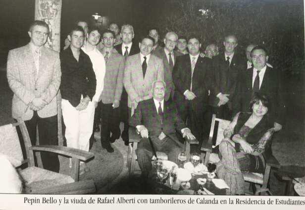Ministra de Cultura Doña Carmen Calvo, Pepín Bello y viuda de Rafael Alberti