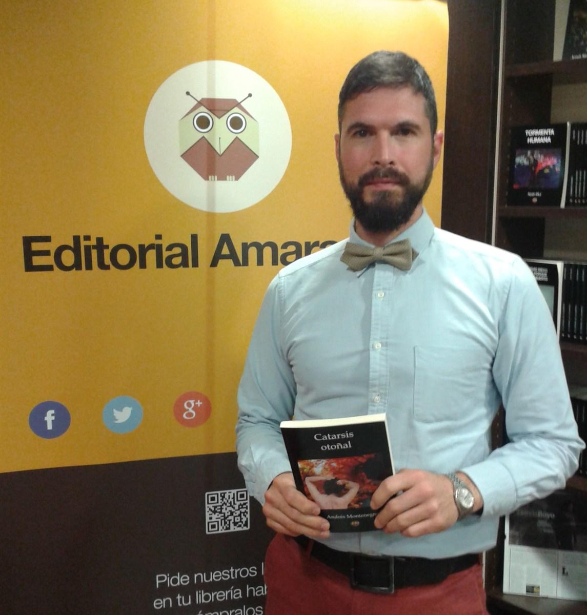 Catarsis otoñal: Andrés Montenegro presentó su primera novela