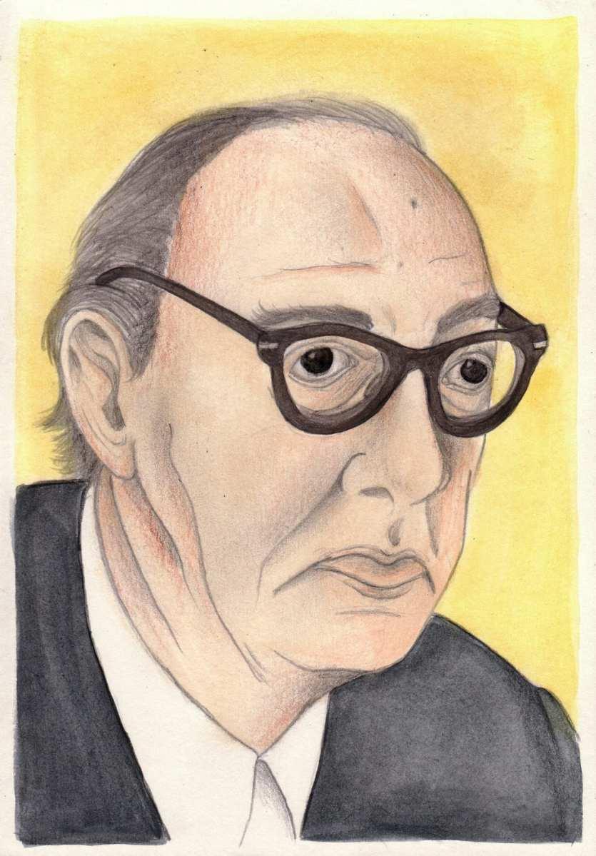Retrato del escritor Juan Carlos Onetti (1909-1994)