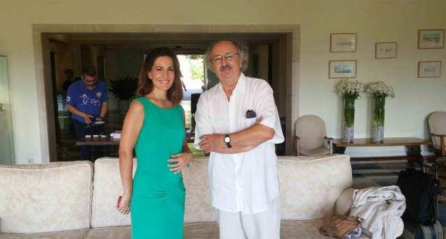 Antonio Colinas y Mónica Velasco