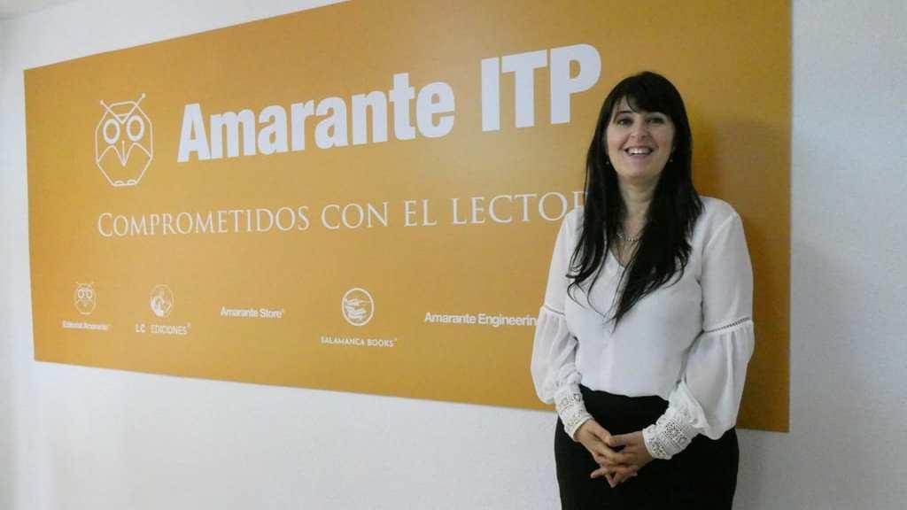 Isamar Cabeza en las instalaciones del grupo editorial Amarante ITP