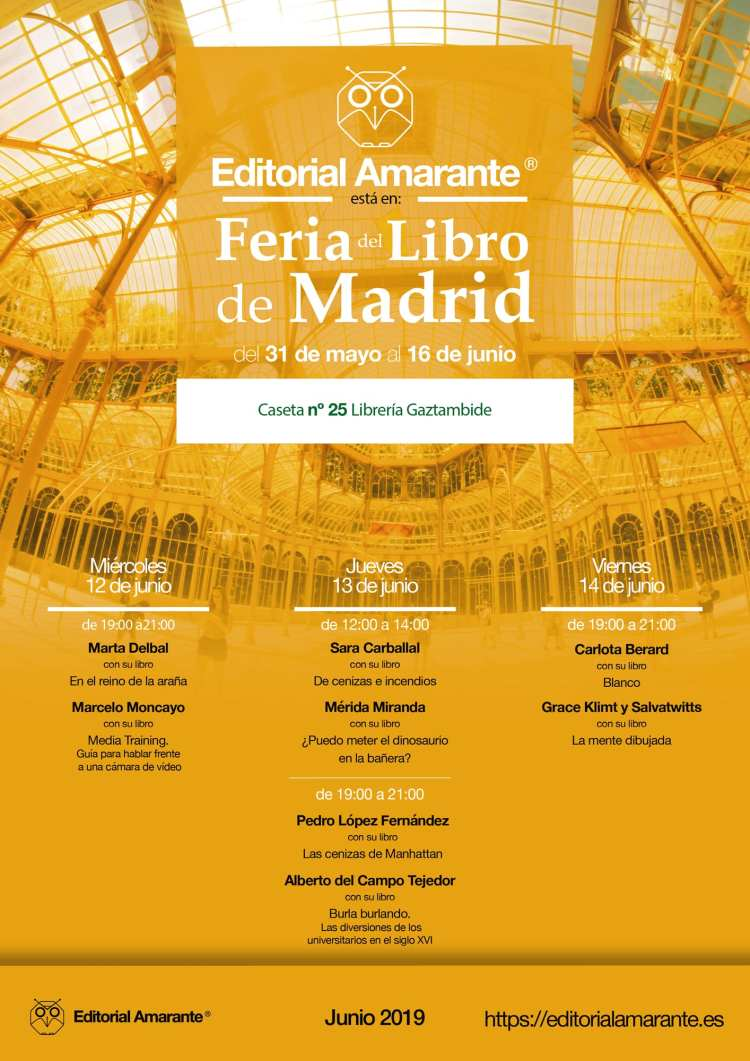Feria del Libro Madrid 2019. Editorial Amarante