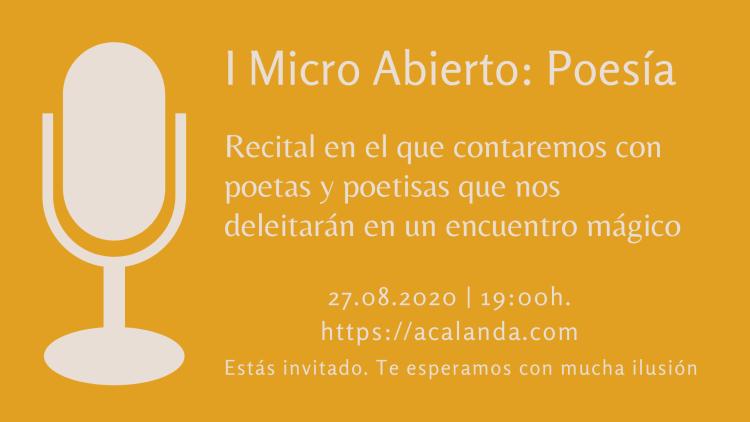 I Micro Abierto: Poesía