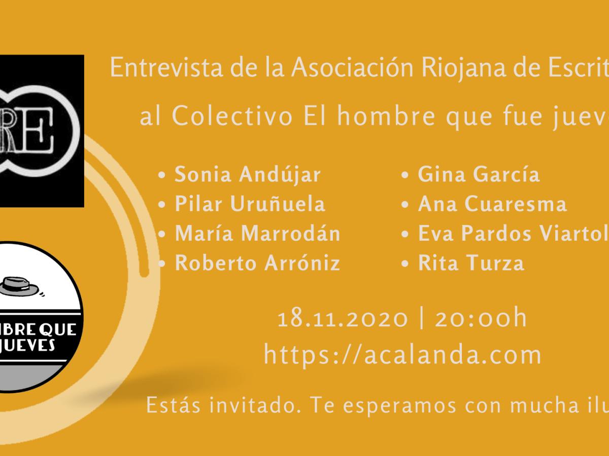 Sombra - Entrevista de la Asociación Riojana de Escritores al Colectivo El hombre que fue jueves