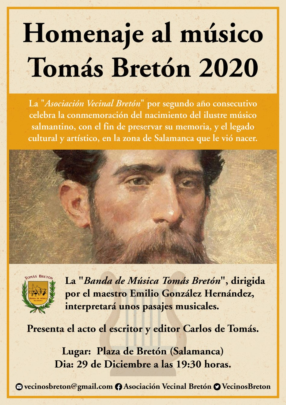 Homenaje Tomás Bretón 2020 Salamanca