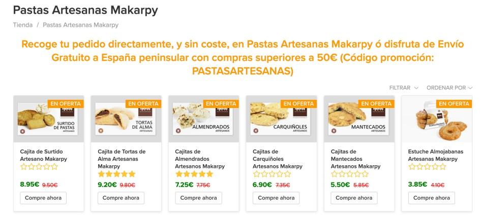 Pastas Artesanas Makarpy. Amarante Store, tu Centro Comercial online