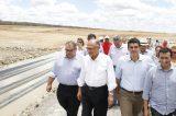 Deputado Guilherme Coelho acompanha Ministro da integração e Alckmin em visita a obras da Transposição
