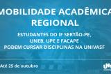 Estão abertas as inscrições para Programa de Mobilidade Estudantil – InterIES na Univasf