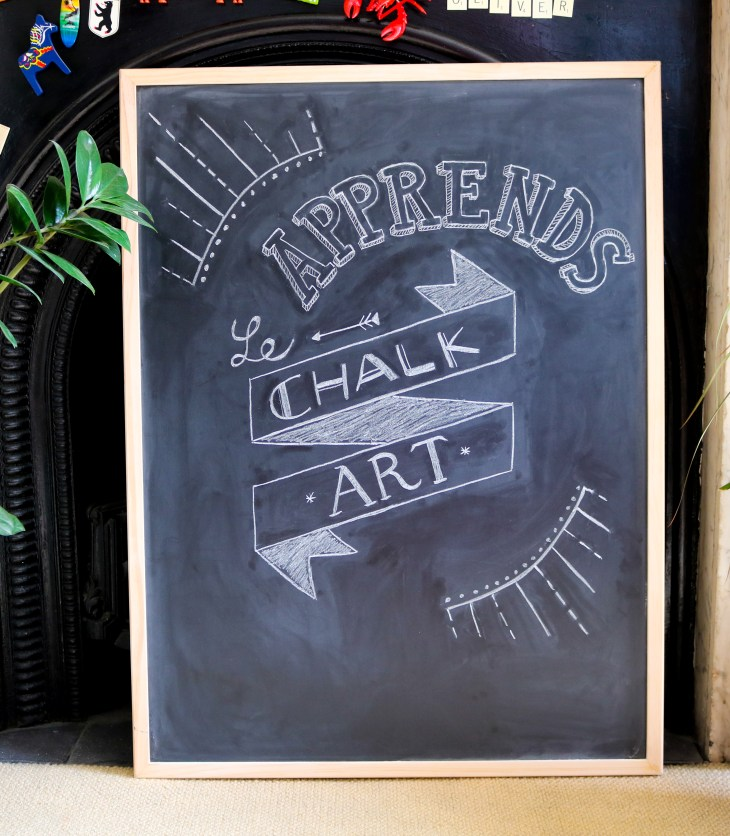 Se lancer dans le chalkboard art / Start chalkboard art / A Cardboard Dream blog