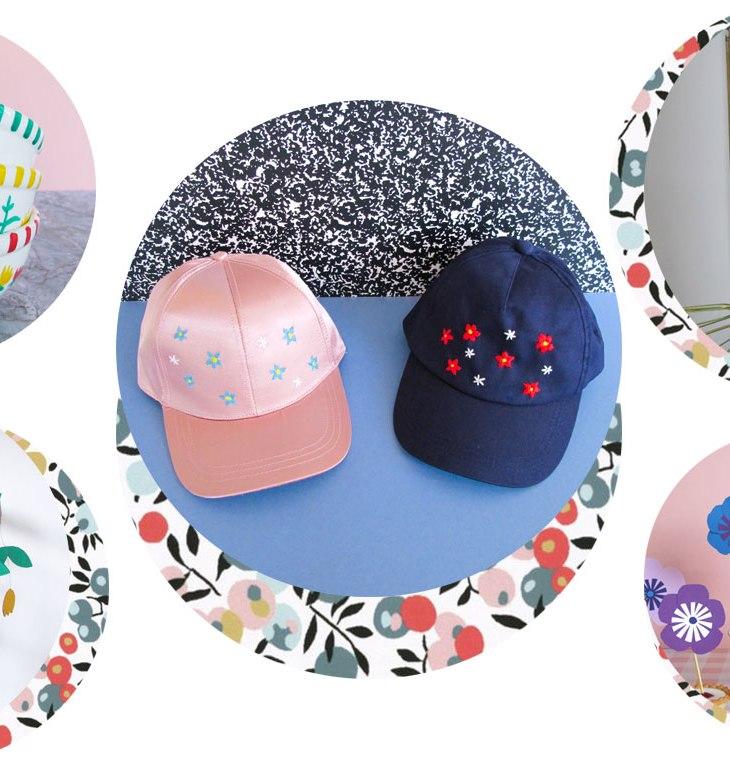 5 DIYs fleuri pour les beaux jours : papier découpé, broderie et peinture // 5 DIY with flowers // A Cardboard Dream