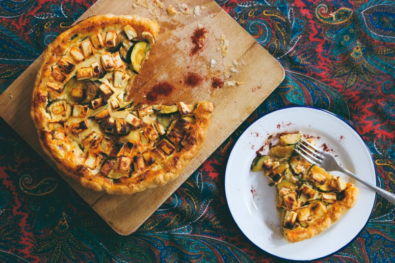 Recette//La tarte courgette,feta et paprika//Recipe Courgette,feta and paprika tart//A Cardboard Dream Blog