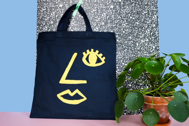 DIY // Réaliser un tote bag imprimé visage // How to make a tote bag with a face print // A Cardboard Dream blog