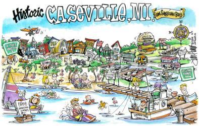 Cartoon Small Town Map 11