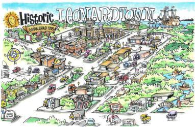Cartoon Small Town Map 10