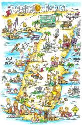 Cartoon Small Town Map 2