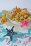 gnocchi di ricotta con fiori di zucca e gamberi