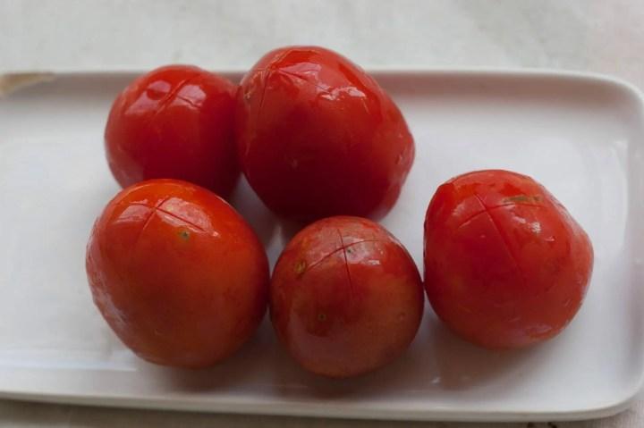receita com tomate pelado